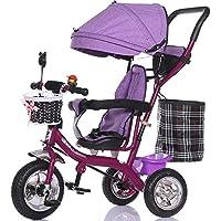 バブルホイールベビーガール乳母車、子供用自転車、自転車、子供三輪車、ライトトロリー ( 色 : パープル ぱ゜ぷる )