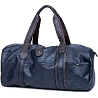 CHAO RAN Leather Travel Weekender Overnight Duffel Bag Gym Sports Luggage Tote Duffle Bags for Men & Women
