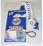横浜ベイスターズ 革ベースボール 白ブレスレット