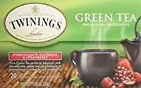 Twinings, Green Tea, Pomegranate, Raspberry & Strawberry, 20 Tea Bags, 1.06 oz (30 g)