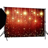 DULUDA 9x 6ftクリスマス星SparklesシームレスPictorial布カスタマイズ写真バックドロップ背景Studioプロップxm06b
