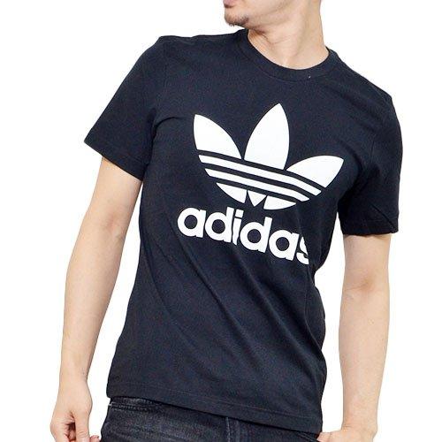 adidasOriginals(アディダスオリジナルス)半袖TシャツHERIORIGTREFOILTEEロゴTシャツプリントTシャツメンズLサイズAJ8830-ブラックbhs47-L-AJ8830