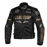 フラッグシップ(Flagship) バイク用ジャケット ヴァーテックスメッシュジャケット ブラック&ゴールド LLサイズ FJ-S196G