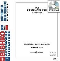 1965年Mopar Chrysler Dodge Desoto Plymouthパーツ番号ブックリストCD Interchange