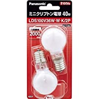 パナソニック ミニクリプトン電球 100V 40W形(36W) E17口金 35mm径 ホワイト 2個入り LDS100…