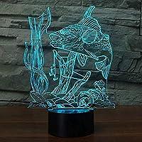 火かき棒およびスクリーン7色の点滅およびUSBによって動力を与えられるタッチスイッチが付いている3D幻想ランプ夜ライト