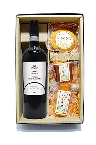 【要冷蔵】 【イタリア 赤ワイン】 アリアニコ・デル・ヴルトゥレ 750ml + いぶしチーズ 3個セット