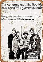 ビートルズ1964グラミー 金属板ブリキ看板警告サイン注意サイン表示パネル情報サイン金属安全サイン