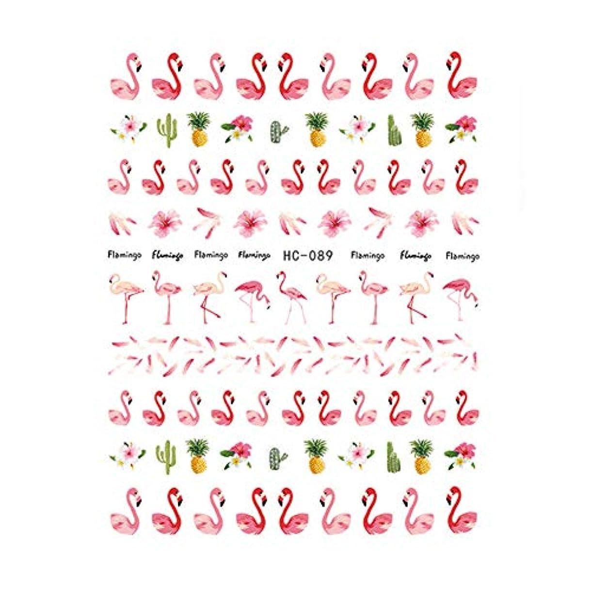 オゾン第五仕事Poonikuu 女の子たち フラミンゴネイルステッカー 可愛いネイル飾 5枚セット
