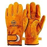 耐熱グローブ牛革手袋 キャンプグローブ 耐熱 耐久質高工事 BBQ 家電製品の修理用 裏付き吸汗や防寒手袋