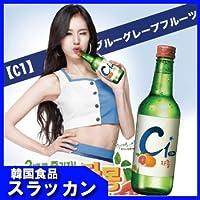 韓国大人気果実焼酎2セット チョウンチョロム スンハリ C1 ブルー グレープフルーツ [並行輸入品]