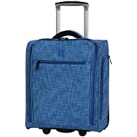 "IT Luggage 17.1"" Stitched Squares 2 Wheel Lightweight Underseat Tote"