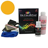Dr。ColorChipシボレーピックアップAutomobileフルサイズペイント Squirt-n-Squeegee Kit イエロー DRCC-209-2195-0001-SNS