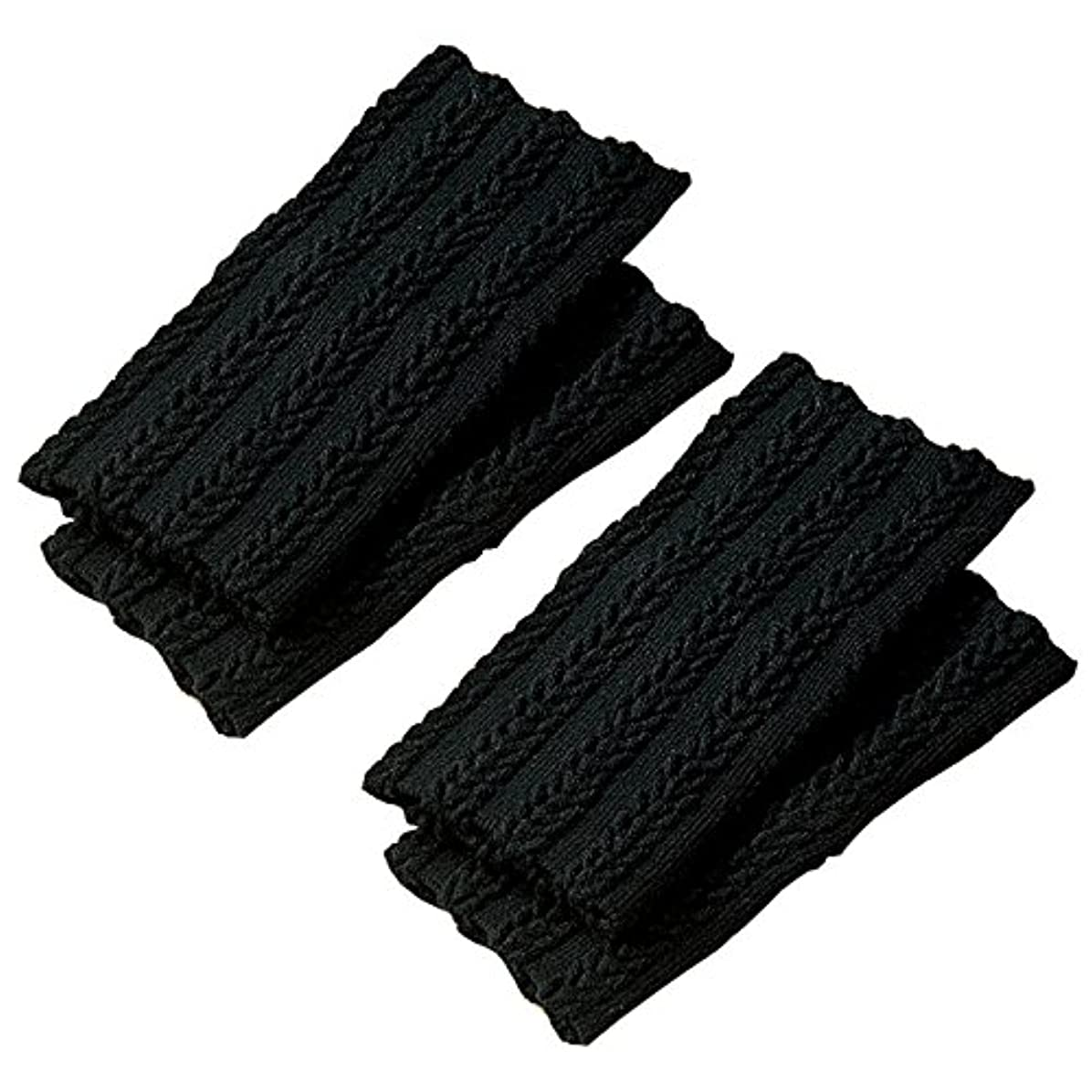 立派な適格ポータルセルヴァン 遠赤シルク足首ウォーマー(セラムA) ブラック 4枚組