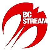 スノーボード ステッカー BC-Stream [BC-2]【1】 ビーシーストリーム カッティングステッカー (RED)