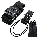 スーツケースベルト・ネームタグ バッグとめるベルト2本セット十字 おしゃれ パスワード設定可能 ワンタッチ長さ調整 旅行出張用