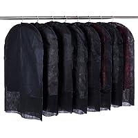 アストロ 洋服カバー 8枚組 ブラック 両面不織布製 大切な洋服をホコリや汚れから守ります! 605-14