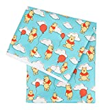 Bumkins Disney Winnie The Pooh Splat Mat, Waterproof, Washable for Floor or Table, Under Highchairs, Art, Crafts, Playtime, 42x42
