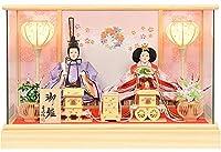 雛人形 コンパクト 桧 ケース飾り 三五 親王飾り ひな人形 No.306-127
