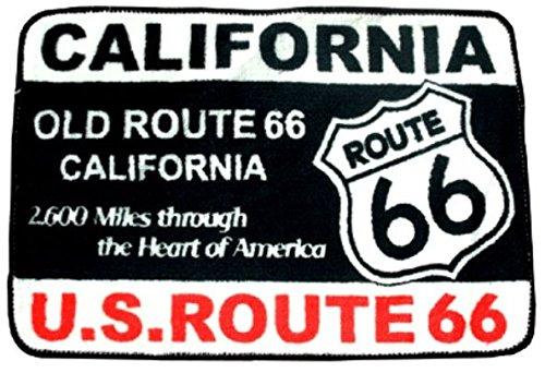 アメリカン フロアマット ROUTE66 (ブラック/ホワイ...