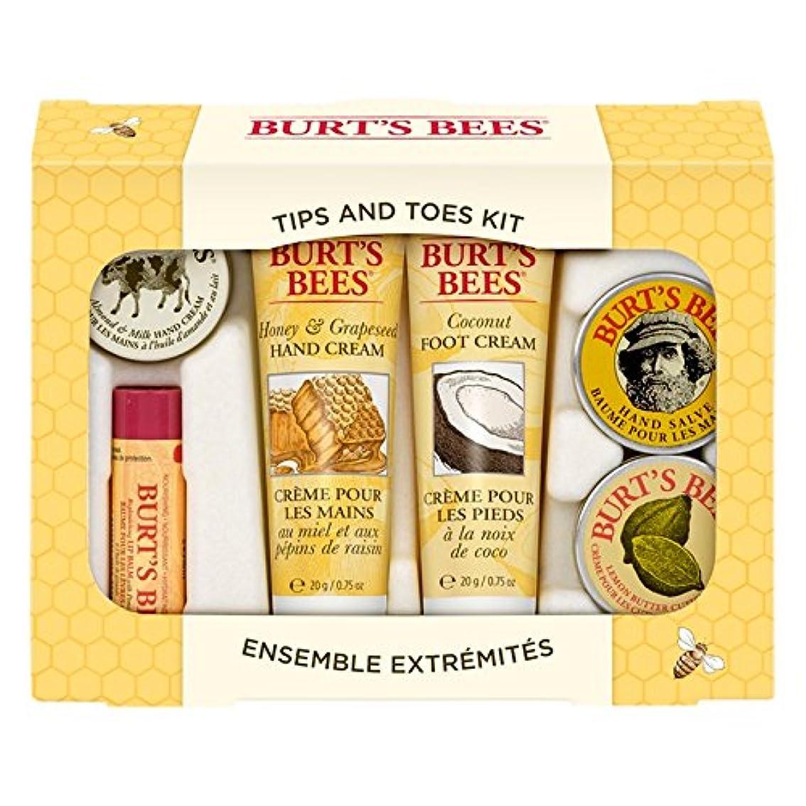 破壊するヒップ寄付するバーツビーのヒントとつま先はスターターキットをスキンケア (Burt's Bees) - Burt's Bees Tips And Toes Skincare Starter Kit [並行輸入品]