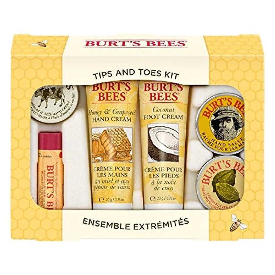 オフマイクロフォン櫛バーツビーのヒントとつま先はスターターキットをスキンケア (Burt's Bees) - Burt's Bees Tips And Toes Skincare Starter Kit [並行輸入品]