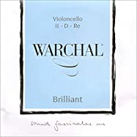 Warchal Brilliant Cello D String - Hyronalium-Silver - Synthetic Core - Medium [並行輸入品]