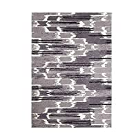 カーペットポリエステルリビングルームのコーヒーテーブルパッド長方形の寝室のベッド毛布肥厚ノルディックドアマット洗える (Color : GRAY, Size : 160*230CM)