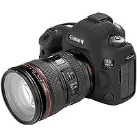 STSEETOP スキンカバー シリコン保護ケース (Canon 5D Mark IV, ブラック)