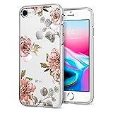【Spigen】 Apple iPhone8 ケース / iPhone7 ケース, [ TPU ケース ] [ Qi 充電 対応 ] [ 超薄型 超軽量 ] リキッド・クリスタル アップル アイフォン 8 / 7 用 カバー (iPhone8 / iPhone7, アクアレール・ローズ)