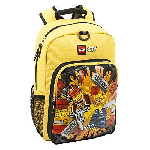 LEGO City Desconstruction Boom Heritage Classic Children's Backpack, Yellow [並行輸入品]