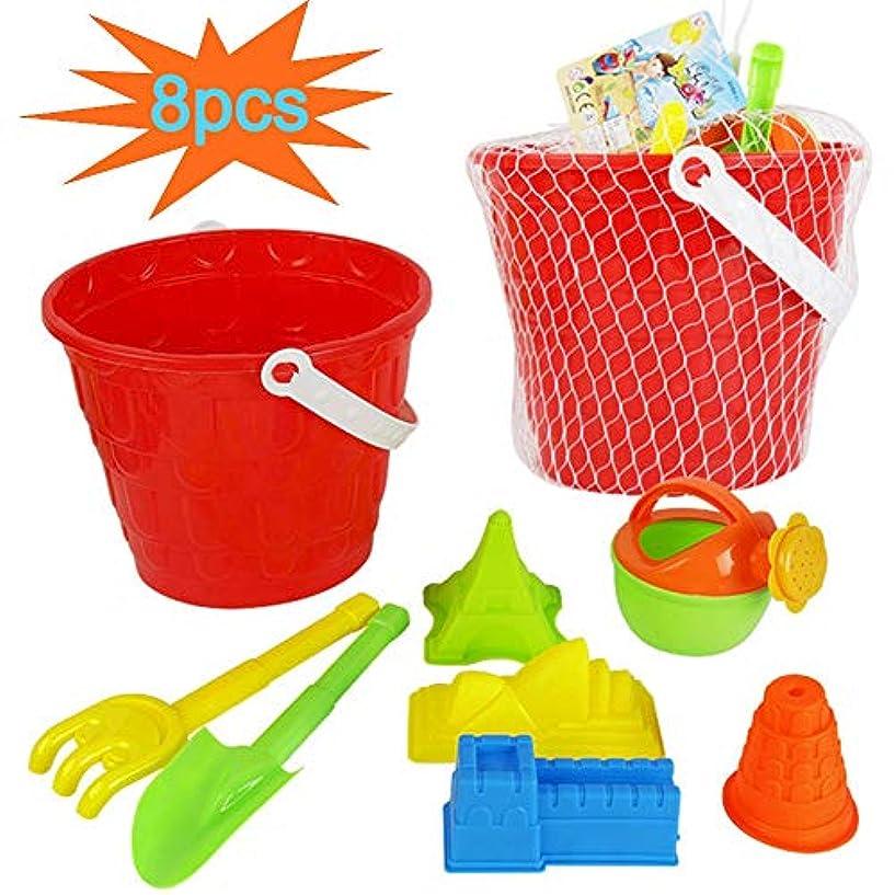 郵便屋さんトランスミッションビヨン8ピースセット大きなビーチバケット子供水ビーチおもちゃ砂シャベルプラスチックのおもちゃを遊ぶ