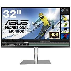 ASUS 32型プロ向け4Kディスプレイ ハードウェアキャリブレーション付属限定モデル(HDR/直下型LED/IPS/ゼロ輝点保証/AdobeRGB/Thunderbolt) PA32UC-K