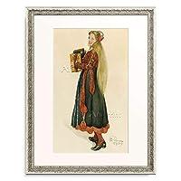 カール・ラーション Carl Larsson 「Lisbeth playing the Accordion. 1909」 額装アート作品
