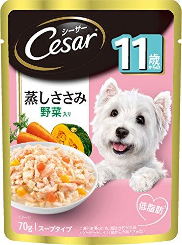 パウチ 11歳からの 蒸しささみ 細かいほぐしささみ・野菜り 70g 16袋 マースジャパン