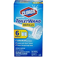 Clorox Disinfecting Toilet Wand Refill Heads 6 ea (Pack of 2) by Clorox