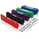 POWER GUIDANCE Pull Up Assist Bands - Heavy Duty Resistance Band, Mobility & Powerlifting Exercise Bands, Perfect for Body Stretching, Powerlifting, Resistance Training, Single Band & Set