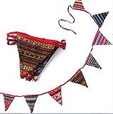Lily テントフラッグ 飾り 風スピナー バナー ガーデン デコレーション おしゃれ ボヘミアン 民族柄