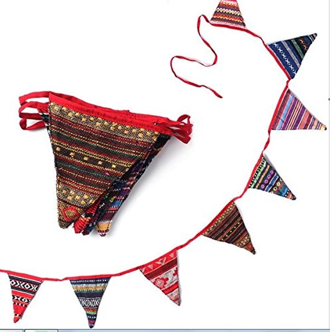 カウンターパート十二ええLily テントフラッグ 飾り 風スピナー バナー ガーデン デコレーション おしゃれ ボヘミアン 民族柄