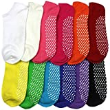Non Slip Skid Socks with Grips, For Hospital, Yoga, Pilates,pack12/12color