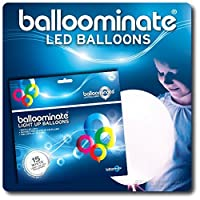 White - 15 pack. White LED Light Up Balloominate Balloons. Great for Parties and Celebrations. by Sky Lanterns
