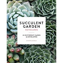 Succulent Garden Notecards: 20 Different Cards and Envelopes (Blank Nature Cards, Botanical Cards)