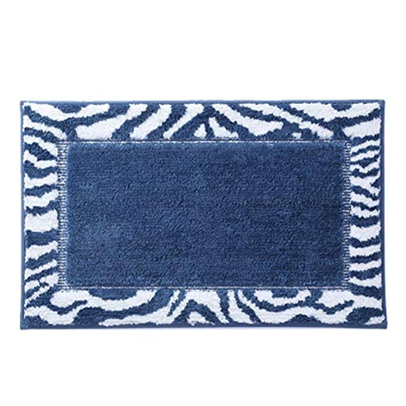 防水滑り止めマット柔らかいふわふわバスルームマット厚いパッドドアマットリビングルームカーペット,ブルー,50X80CM