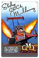 なまけ者雑貨屋 Quarter Mile Queen Top Fuel World Champion ブリキ看板 アメリカン 壁掛けプレート レトロ雑貨 インテリア
