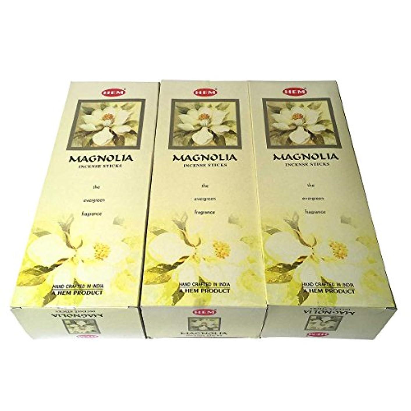 発音例外垂直マグノリア香スティック 3BOX(18箱) /HEM MAGNOLIA/お香/インセンス/インド香 お香 [並行輸入品]