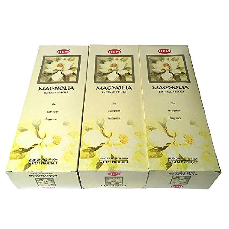 船外言い直す残り物マグノリア香スティック 3BOX(18箱) /HEM MAGNOLIA/お香/インセンス/インド香 お香 [並行輸入品]