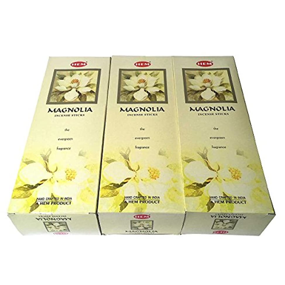 構成する単語靄マグノリア香スティック 3BOX(18箱) /HEM MAGNOLIA/お香/インセンス/インド香 お香 [並行輸入品]