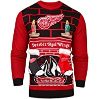 NHL Detroit Red Wings Unisex NHL Ugly 3D Sweater, Large