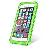 KYOKA 【改良版】iPhone6 iPhone6s 防水ケース 指紋認証対応 防水 耐震 防塵 耐衝撃 IP68 アイフォン6s 防水ケース 防水カバー (改良版iPhone6/6s, グリーン)