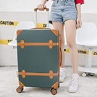 Reclain ローリング荷物スピナーレトロスキッドスーツケースホイール 20 インチ学生にキャリートロリー 26 インチ大容量トラベルバッグ